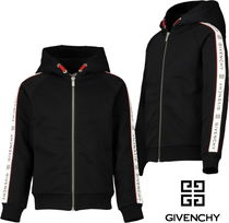 19ss▼GIVENCHY▼ロゴラインパーカーG 黒/14y 【安心国内発送】