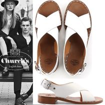 チャーチ leather sandal with crossed straps