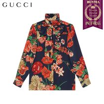 【正規品保証】GUCCI★19春夏★SPRING BOUQUET SILK SHIRT