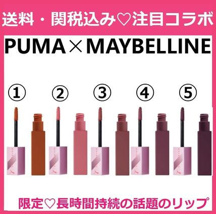 コラボ MAYBELLINE×PUMA SuperStay Matte Ink Liquid Lipstick