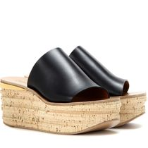 SALE!!【Chloe】Leather and cork wedges
