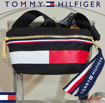 【☆NEW MODEL★】Tommy Hilfiger FLAGロゴ ウエストバッグ BK♪