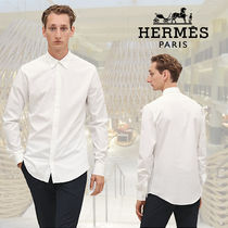 【SS2019】HERMES*エルメス*Fitted shirt double piping*シャツ