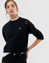 Fred Perry x Amy Winehouse foundation embroidered sweatshi