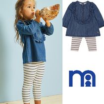 mothercare☆0-24M☆denim blouse&striped leggings2点セット