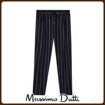 MassimoDutti♪NAVY JOGGING FIT STRIPED TROUSERS