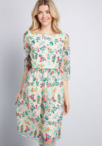 Duly Dreamy Embroidered A-Line Dress