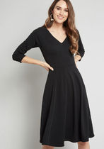 Date Night Done Right 3/4 Sleeve Dress