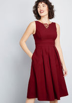 Always Polished Fit and Flare Dress