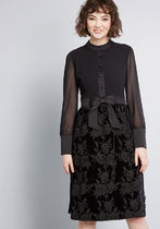 ModCloth x Anna Sui Enigmatic Mood A-Line Dress