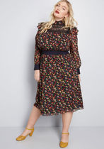 ModCloth x Anna Sui Thriving Style Midi Dress