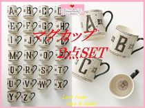 最安値保証*関送込【Anthro】Tiled Margot Monogram Mug 2点SET