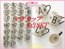 最安値保証*関送込【Anthro】Tiled Margot Monogram Mug 4点SET