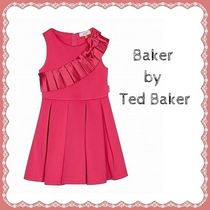 ★baker by TED BAKER★ピンクプリーツフロント ドレス(4〜14歳)