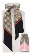 【国内発送】GUCCI GG AND BEE PRINT SILK NECK BOW