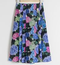 """""""& Other Stories"""" Floral Pleated A-Line Midi Skirt Multi"""