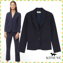 MAISON KITSUNE*SMALL CHECK IRENE STRAIGHT ブレザー