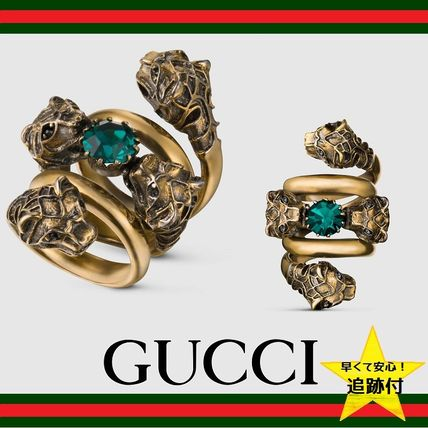 ★追跡有【GUCCI】Double wrap ring with tiger heads★