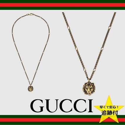 ★追跡有【GUCCI】Necklace with lion head pendant★