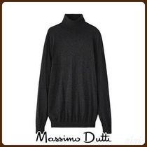 MassimoDutti♪PLAIN COTTON/CASHMERE/SILK SWEATER