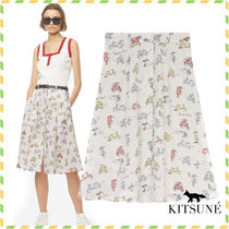 MAISON KITSUNE*ALL-OVER SCOOTER OKI スカート