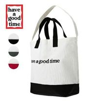 have a good time(ハブアグットタイム) トートバッグ have a good time★韓国★ Side Logo 2-Way Tote Bag 【3色】