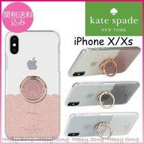 kate spade◆iPhone X/Xs ケース◆バンカーリング付◆