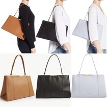 TED BAKER Faceted Bow Tote Bag トートバック ブラウン ブルー