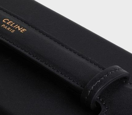 CELINE スマホケース・テックアクセサリー CELINE IPHONE X AND XS CASE WITH STRAP IN SMOOTH CALFSKIN(4)