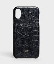 CELINE IPHONE X AND XS CASE IN LAMBSKIN STAMPED