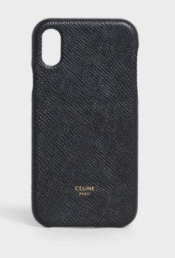 CELINE スマホケース・テックアクセサリー CELINE IPHONE X AND XS CASE IN GRAINED LAMBSKIN