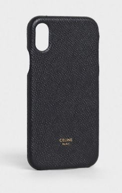 CELINE スマホケース・テックアクセサリー CELINE IPHONE X AND XS CASE IN GRAINED LAMBSKIN(2)