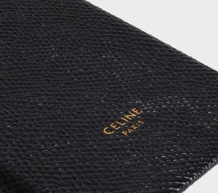 CELINE スマホケース・テックアクセサリー CELINE IPHONE X AND XS CASE IN GRAINED LAMBSKIN(3)