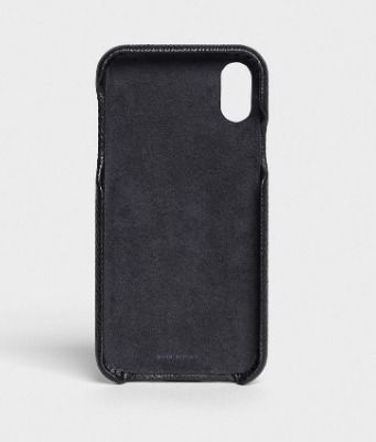 CELINE スマホケース・テックアクセサリー CELINE IPHONE X AND XS CASE IN GRAINED LAMBSKIN(4)