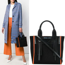 PR1779 CANVAS & LEATHER OUVERTURE SMALL TOTE BAG