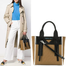 PR1780 CANVAS & LEATHER OUVERTURE SMALL TOTE BAG