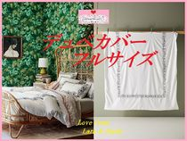 最安値*関送料込【Anthro】Embroidered Petunia Duvet Cover FUL