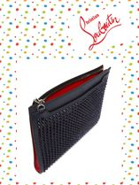 Christian Louboutin/Skypouch spike-embellished レザークラッチバック