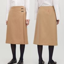 """COS""  CLIP-BUCKLE WRAP SKIRT CAMEL"