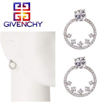 特価!GIVENCHY★Pave Crystal Hoop Floater クリスタルピアス