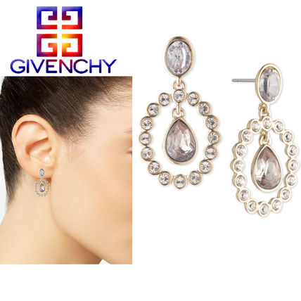 特価!GIVENCHY★Gold-Tone Crystal /Stone Orbital Dropピアス