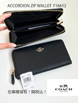 定番 COACH★ACCORDION ZIP WALLET 長財布 F16612*ぺブルレザー