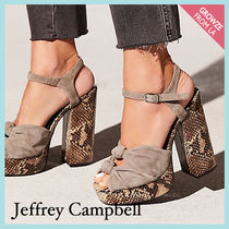 【Jeffrey Campbell】タンスエード スネーク柄 ブロックヒール