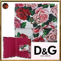 Dolce&Gabbana☆Rose dauphineレザーfrench flap wallet 関送込!
