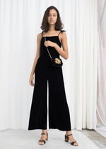 【日本未入荷】& Other Stories★Square Neck Velvet Jumpsuit