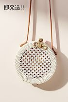 セール! Anthropologie Rattan Circle Bag
