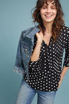 セール! Polka Dot Henley Top
