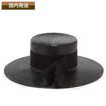 送料関税込☆ Saint Laurent ハット Grosgrain straw boater hat