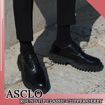 ASCLO★韓国の人気★ROUND TIP CLASSIC CLIPPER DERBY