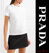 【国内発送】PRADA Set of three cotton-jersey T-shirts